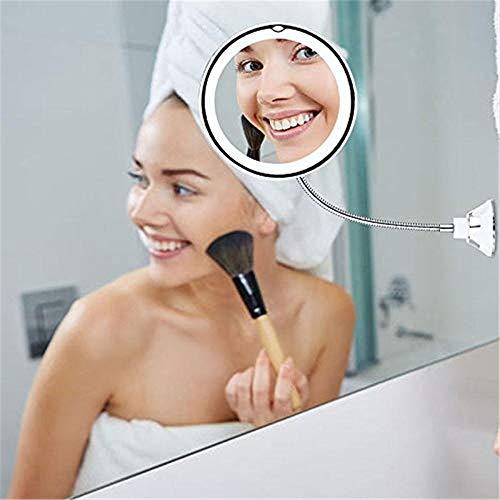 Luz LED flexible para espejo de escritorio, luces de maquillaje, 360 grados, lupa ajustable
