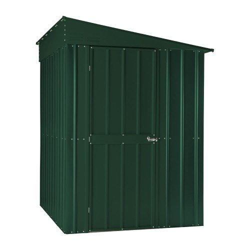 Global LOTUS 58 HG Lean-to Solid Shed, Green, 5x8
