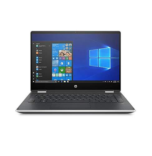 HP Pavilion x360 - 14-dh1011ns - Ordenador portátil de 14' FullHD (Intel Core i3-10110U, 4GB de RAM, 128GB SSD, Intel UHD Graphics, Windows 10) Plata ceniza - teclado QWERTY Español