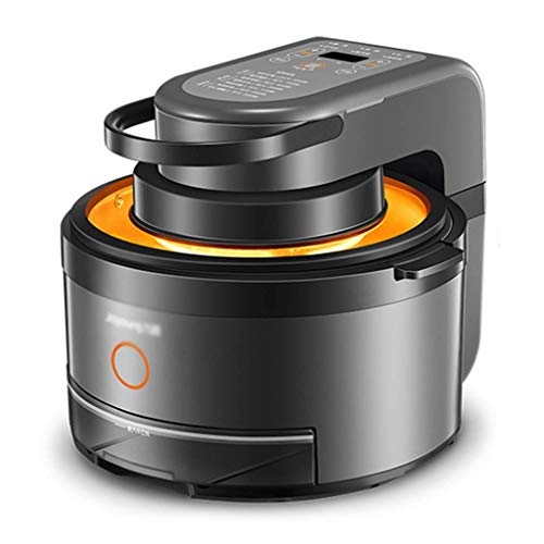 showyow Friggitrice ad Aria da 5 Litri, Dispositivo di Controllo della Temperatura Regolabile a Basso consumo energetico Senza Olio (Colore: Nero, Dimensioni: 40 * 37 * 34 cm)