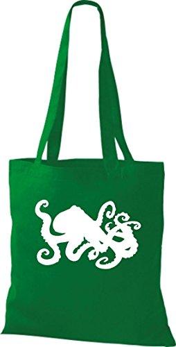 Unbekannt Toller Beutel mit Druck/Coole Krake, Oktopus/Farbe: Kelly/Perfekte Geschenkidee für Tierliebhaber