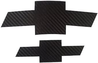 LZLRUN 2 PCS Black Carbon Fiber Emblem Sticker for Chevrolet Cruze 2009-2014 (Black)