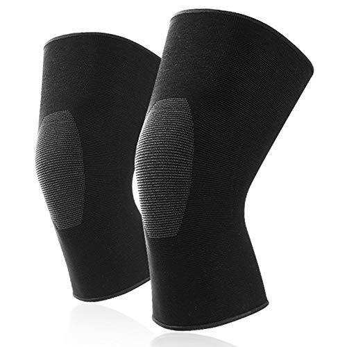 Sxmy Rodilleras, ciclismo, correr, rodilleras de compresión, tejido tridimensional, transpirable, resistente al desgaste, antideslizante.