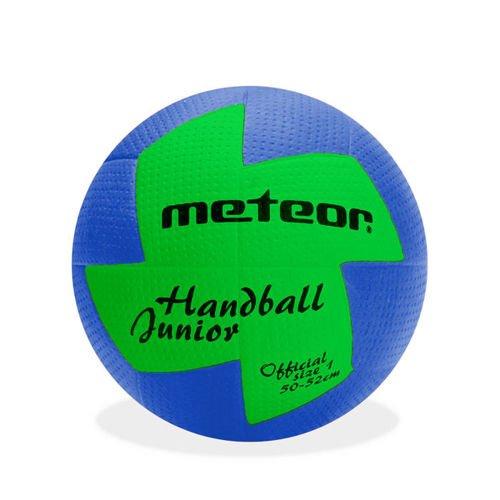 meteor® Nuage Handball Kinder Jugend Damen ideal auf die Kinderhände abgestimmt idealer Handbälle für Ausbildung weicher handballen mit griffiger Oberfläche (Jugend #1 (50-52 cm), Blau/Grün)