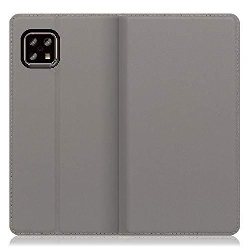 [SHARP公式認定] LOOF SKIN Slim AQUOS sense5G / sense4 / sense4 lite / sense4 basic ケース 手帳型 カバー 極薄 ベルト無し カード収納 カードポケット 薄い 軽い スタンド機能 手帳型ケース スマホケース シンプル 手帳型カバー (グレー)