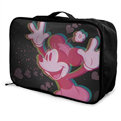 Bolsa de viaje para equipaje portátil de gran capacidad, impermeable y ligera, hecha de poliéster, con patrones de impresión elegantes y exquisitos