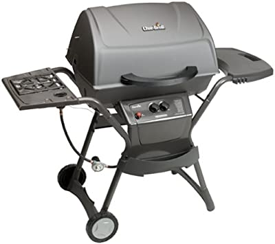 Char-Broil 4638116 8000 Series Quickset Gas Grill with Side Burner