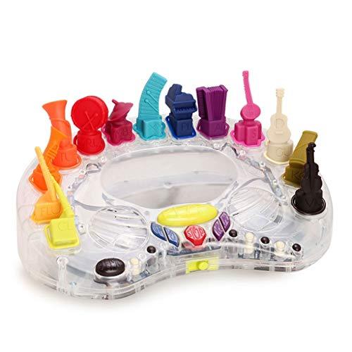 Caja de musica Caja de plástico caja de música de luz LED luminoso musical 13 tipos de instrumentos musicales de juguete Cajas de música for los muchachos del regalo de cumpleaños for niños Cajas Musi