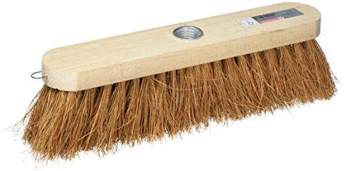 Bürstenmann Straßenbesen mit Holz Körper und–Kokos-Fasern, 30cm