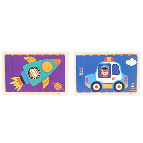 Puzzle Teile, Kinder Puzzel, Stücke PuzzleBaby Puzzle einfache Puzzle Aufklärung kreative Muster Kinderspielzeug Cartoon Lernen Kinder Bar Puzzle