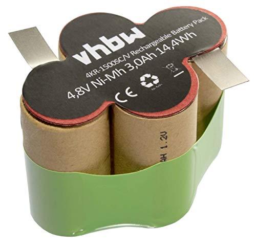 vhbw NiMH batería 3000mAh (4.8V) para aspiradora, escobas eléctricas Kärcher Broom K55...
