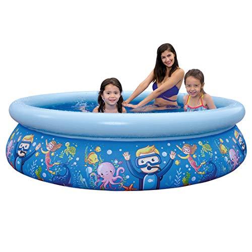 LJYLF Inflable natación del bebé Piscina para niños, Piscina Inflable Plegable, Blow agrupaciones de natación para niños y Adultos, Piscina Inflable al Aire Libre para el jardín, Ocean
