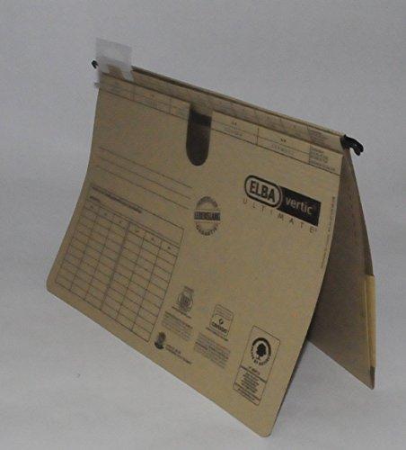 ELBA Taschenhefter A4, Hängehefter und Tasche kombiniert, Recycling-Karton, braun, 25er Pack