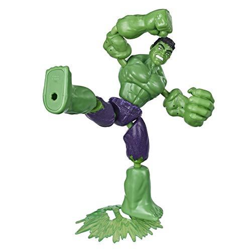 Marvel 79196 Avengers Bend and Flex Action-Figur, 15 cm große biegbare Hulk Figur, enthält EIN Effekt-Accessoire, für Kids ab 6 Jahren