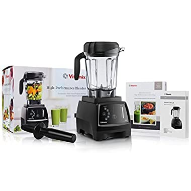 Vitamix 780 G-Series Next Generation Series Touchscreen Blender with 64-Ounce Container + Introduction to High Performance Blending Recipe Cookbook + Low-Profile Tamper
