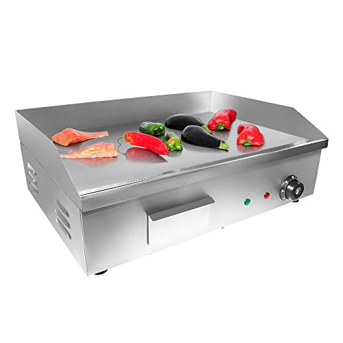 ALDKitchen Flat Top Griddle | Teppanyaki Grill with Single Thermostat | Commercial Griddle | 21.50' x 16.00' | 110V