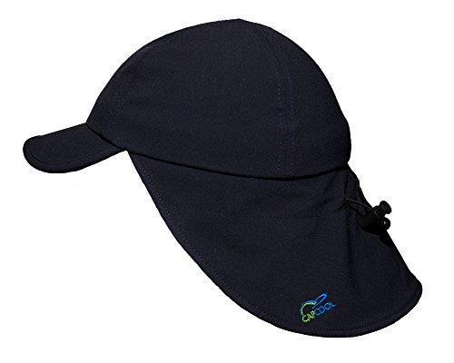 CAPCOOL Sport- u. Freizeit-Kappe/Cap mit Nackenschutz: WELTNEUHEIT (100% UV-Schutz!), höchster Lichtschutzfaktor weltweit!, angenehm kühl beim Tragen, kein Sonnenbrand (Hautkrebs-Risiko!)