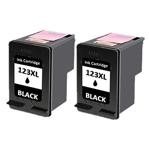 Cartucho de tinta de alto rendimiento compatible para HP123XL, para HP Envy 4511 4512 4513 4516 4520 impresora 2*black-New