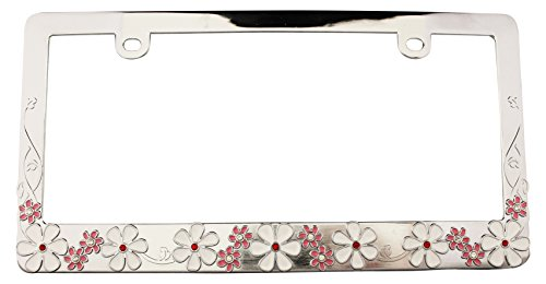 license plate frame with flowers - 2