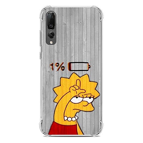 LUOKAOO Ultra TPU Silicone Rubber Gel Edge Protection Cover Case for Huawei P30-The Bart-Simpson Cartoon 5