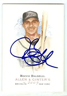Autograph 156756 Tampa Bay Rays 2007 Topps Allen Ginters No. 222 Rocco Baldelli Autographed Baseball Card