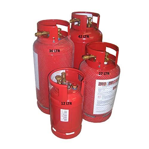 Toploo Rote Gas-Tankflasche Größe 22 kg (36 Liter)
