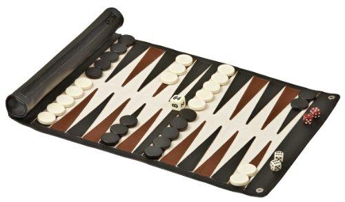 Philos 1713 - Backgammon zum Rollen, Kunstleder für die Reise