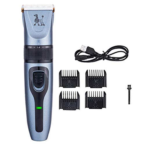 Dog Clippers Pet Grooming Clipper Kits, Pet elektrisch scheerapparaat Kat en Hond elektrische tondeuse, hond Professional Beauty Trim Set met 4 Combs, voor honden katten en Meer