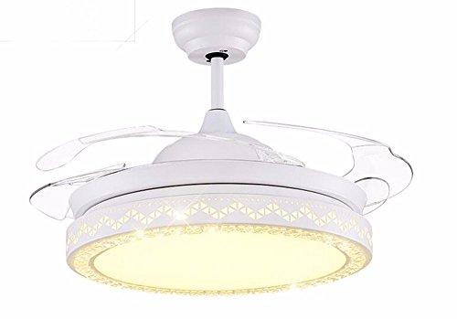 Ldoons plafondventilator met led-plafondlampen, restaurant, eenvoudige montage, elegant, diameter 92 cm, 28 W, dimbaar