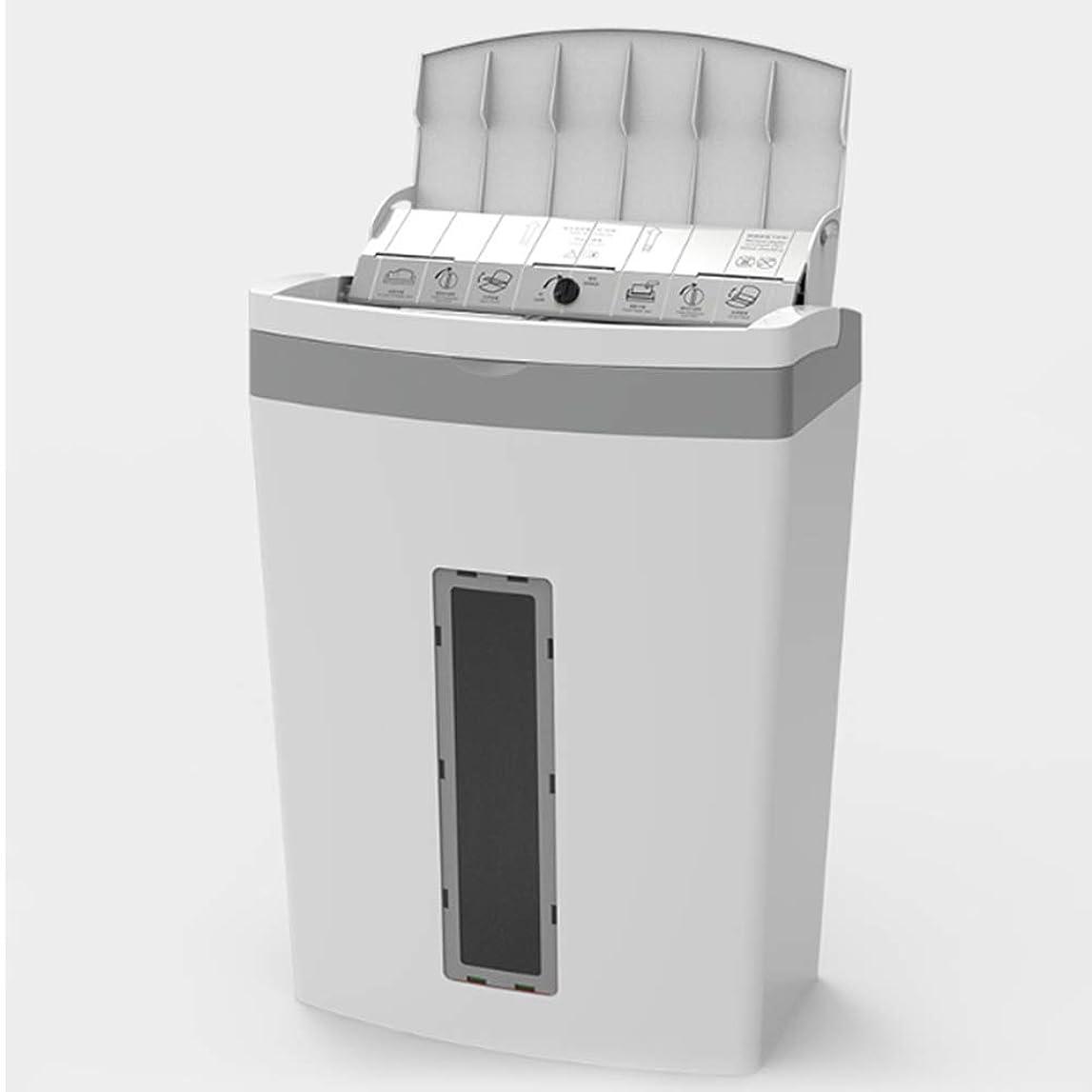 抑止する良い軽量クロスカットヘビーシュレッダー6台、連続稼働時間10分、オフィスクレジットカード/ステープラーシュレッダー、ダンボール偽造防止システム付きサイレントシュレッダー(ゴミ箱付き)