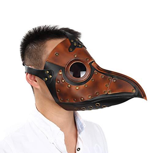 Tenflyer Steampunk Plague Doctor Mask Faux Leather Birds Beak Masks Halloween Art Cosplay Carnaval Props