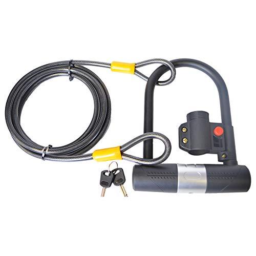 Fietsslot met kabel en sleutels/1800mm lange fietskabel en U-fietsslot met beugel voor kinderen en volwassenen