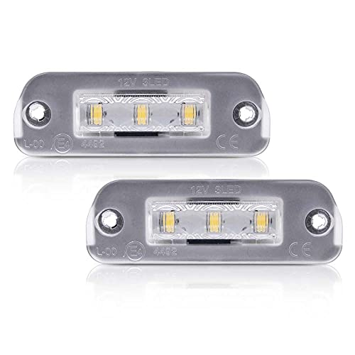 Aghami Luz de Placa Luz de la Placa de la Licencia LED de 2pcs para Mercedes Benz W251 W164 X164 R ML GL Lámpara de Etiqueta Trasera CANBUS CANBUS DE Clase AUTOMÁTICO Placa LED
