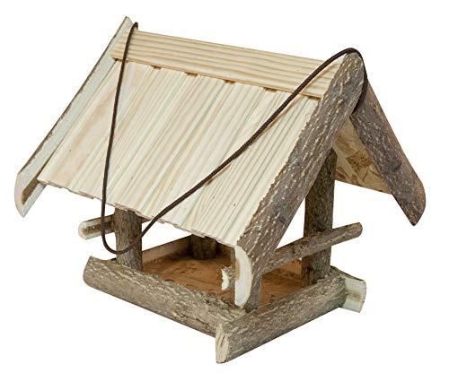 Windhager Vogelfutterhaus Kitzsteinhorn, Vogelfuttersilo, Vogelhaus, Futterspender für Vögel, inklusive Aufhängeschnur, Vogelhäuschen aus Massivholz, 06864