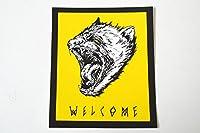 WELCOME SKATE BOARDS ウェルカム スケートボード ステッカー イエロー