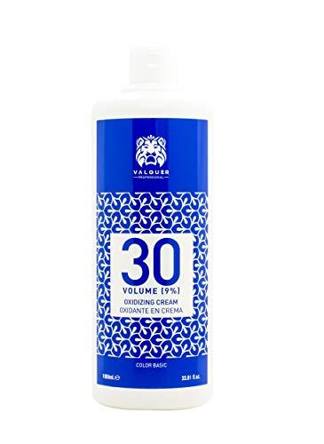 Valquer Crema Ossigenata Professionale Stabilizzata, 30 Volumi (9%) 1000 ml
