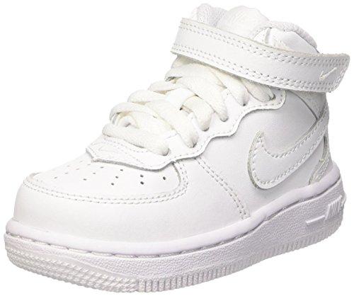 Nike AIR Force 1 MID Toddler Sneaker Enfant Weiss - 19 1/2 - Sneaker High