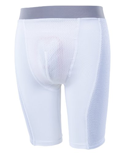 Russell Athletic Youth Padded Sliding Short - White (Youth Large)