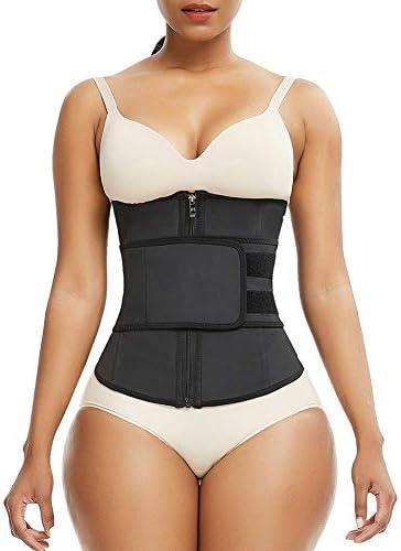 FeelinGirl Waist Trainer for Women Latex Waist Cincher Plus Size for Sport 5XL product image