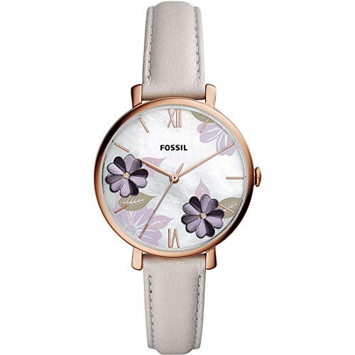 Fossil JACQUELINE Wristwatch for Women with Genuine Leather Strap ES4672