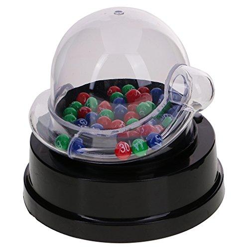 Sharplace Mini Elektrische Glückszahl Maschine für Lotterie Bingo Spiel