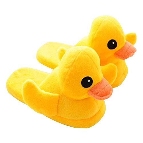 Cute Plüsch Ente Hausschuhe, Hausschuhe, warme Hausschuhe für Frauen und Männer (EU (35-39))
