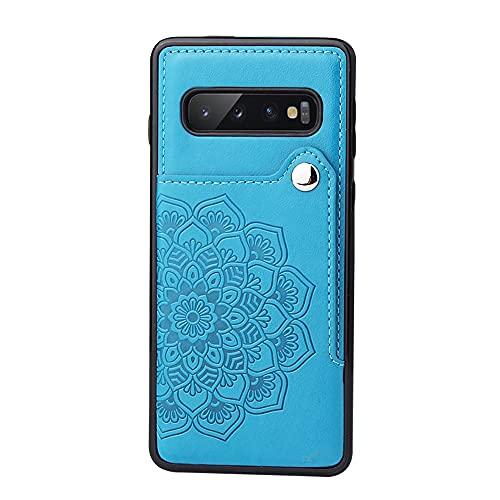 Funda protectora, Para Samsung Galaxy S10 Wallet Teléfono Titular de la caja, botones magnéticos de cuero PU, cubierta protectora a prueba de golpes a prueba de golpes para Samsung Galaxy S10