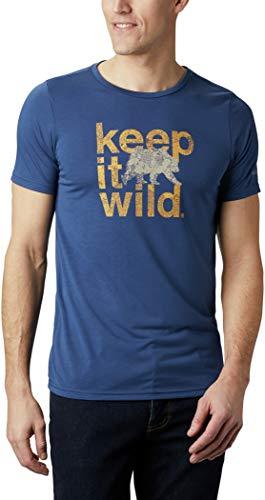 Columbia Terra Vale II SS tee Camiseta, Hombre, Blue, 2XL