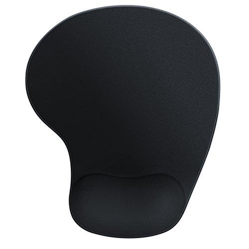 CSL - Office Komfort Gel Mauspad - ergonomisches Gel Mousepad - Gelkissen mit Handballenauflage - zur Entlastung des Handgelenks - weiches Obermaterial Mikrofaseroberfläche