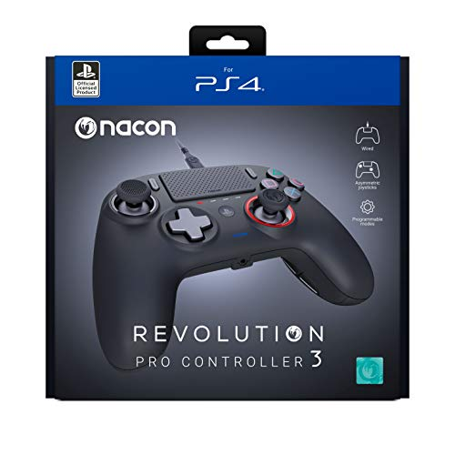 Nacon PS4 Revolution Pro Controller 3 Gamepad Playstation 4, PC Schwarz