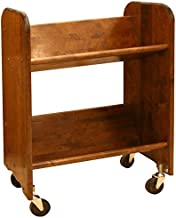 Catskill Craftsmen Bookmaster Rack with Tilted Shelves, Walnut Stained Birch