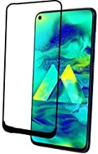 Doubledicestore Full Coverage Egde to Edge 6D Tempered Glass for Samsung Galaxy M40 (Black)