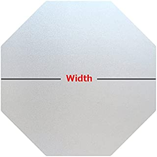 Precut Frosted Privacy Octagon Window Film, Self Static Adhesive Cling, 20 inches Width