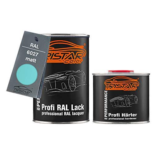 TRISTARcolor RAL 6027 Lichtgrün matt 2K Autolack 1,5 Liter / 1500 ml Dose inkl. Härter